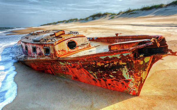 Wall Art - Photograph - Outer Banks Shipwreck by Dan Carmichael