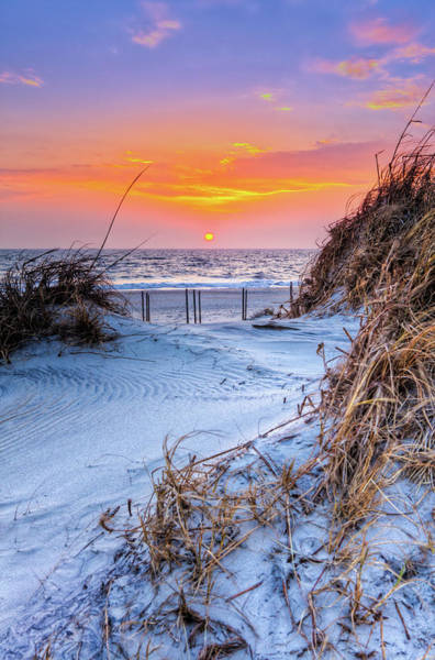 Wall Art - Photograph - Outer Banks Sunrise Over The Sand Dunes by Dan Carmichael