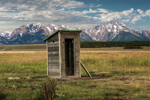 Photograph - Outhouse On Mormon Row In The Grand Teton National Park  by Randall Nyhof