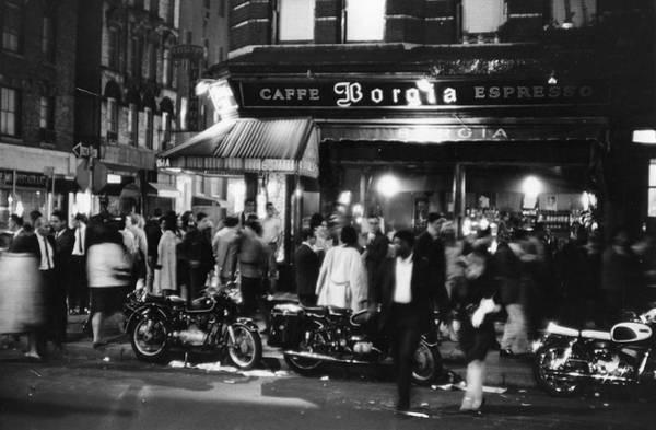 Greenwich Village Photograph - Outside Caffe Borgia by Fred W. McDarrah