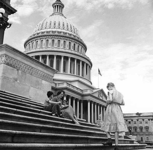 Brother And Sister Wall Art - Photograph - Outside The Capitol by Rae Russel
