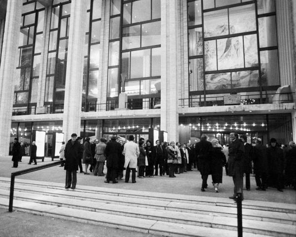 New Beginnings Photograph - Outside The Metropolitan Opera Waits by New York Daily News Archive