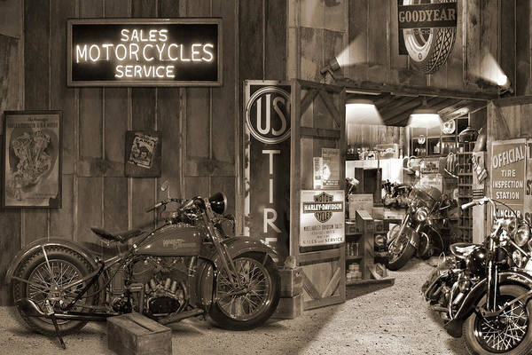 Wall Art - Photograph - Outside The Motorcycle Shop Sp by Mike McGlothlen