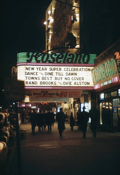 Photograph - Outside The Roseland Ballroom by Andreas Feininger