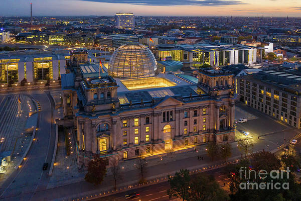Sony Photograph - Over Berlin Reichstag Dawn by Mike Reid