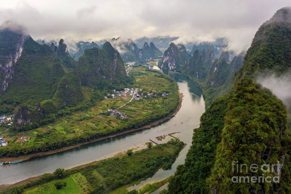 Wall Art - Photograph - Over China Xianggong Hill Misty Peaks by Mike Reid
