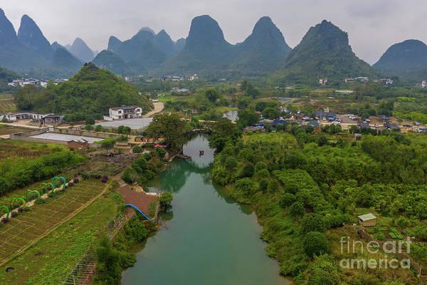 Wall Art - Photograph - Over China Yulong Bridge River Scene by Mike Reid