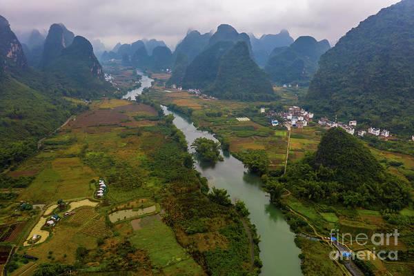 Wall Art - Photograph - Over China Yulong River Runs Through by Mike Reid