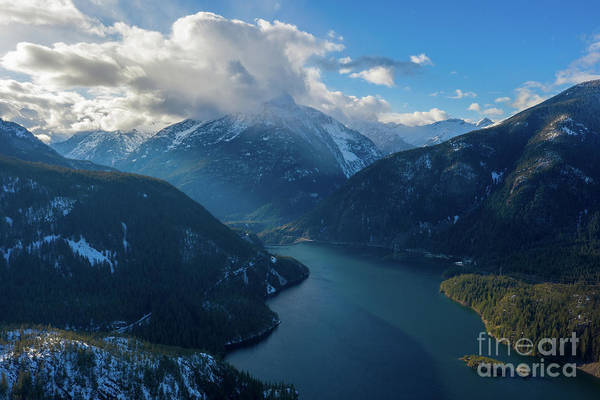 Wall Art - Photograph - Over Diablo Lake Cloudscape by Mike Reid
