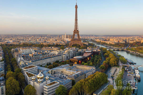 Palais Photograph - Over Paris Eiffel Tower And The 7th Arrondissement by Mike Reid