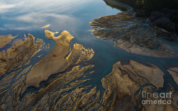Wall Art - Photograph - Over The Northwest Golden Delta Light by Mike Reid