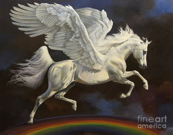 Wall Art - Painting - Over The Rainbow by Jeanne Newton Schoborg