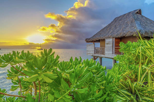 Wall Art - Photograph - Over The Water Bungalow Tahiti French Polynesia by Scott McGuire