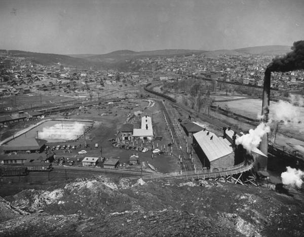 Parking Photograph - Overall View Of Coal Mining Town Looking by Alfred Eisenstaedt
