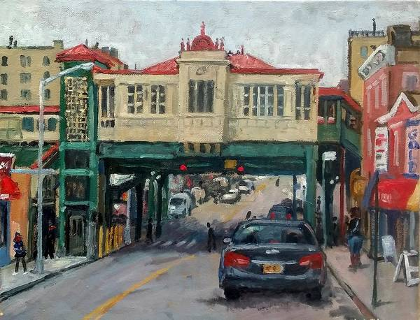 Wall Art - Painting - Overcast 231 Street Bronx Nyc by Thor Wickstrom