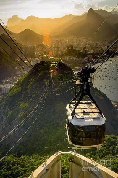Wall Art - Photograph - Overhead Cable Car Approaching by Celso Diniz
