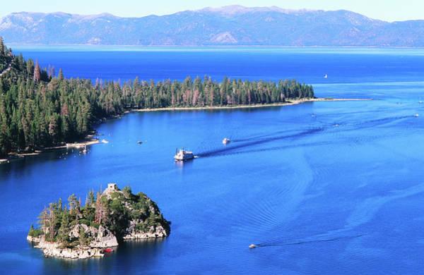 Lake Tahoe Photograph - Overhead Of Emerald Bay, Lake Tahoe by Thomas Winz