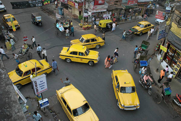 Kolkata Photograph - Overhead Of Intersection Near by Tom Cockrem