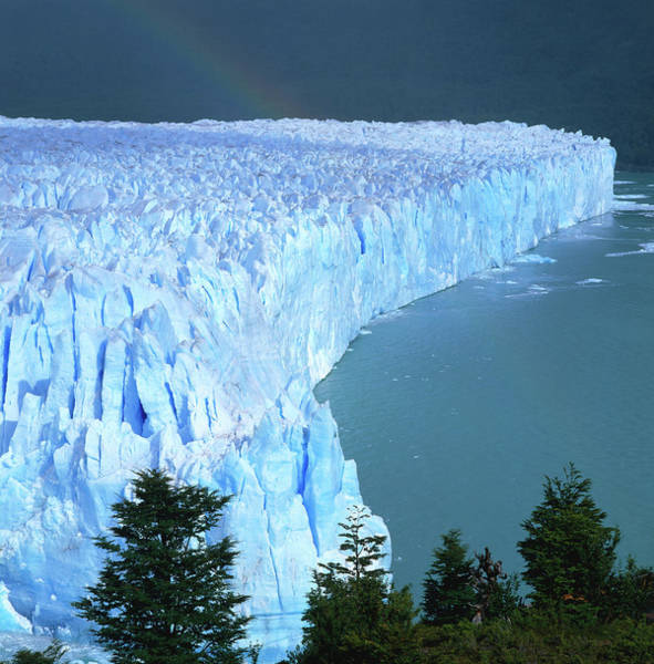 Wall Art - Photograph - Overhead Of Perito Moreno Glacier With by Wes Walker