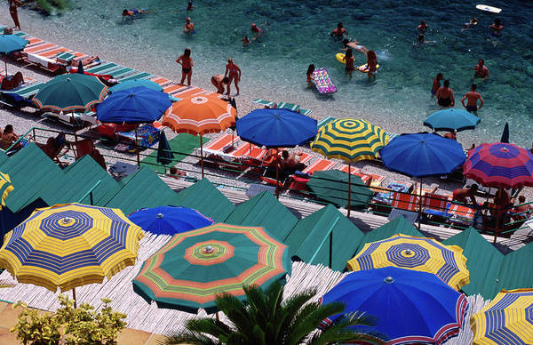Lounge Chair Photograph - Overhead Of Umbrellas At Private by Dallas  Stribley