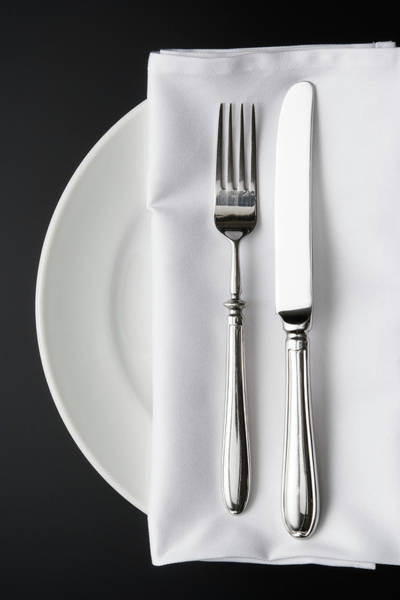 Setting Photograph - Overhead Shot Of Place Setting On The by Kyoshino