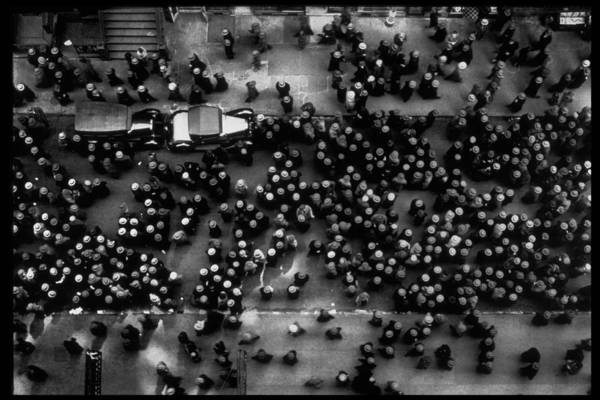 Photograph - Overhead View Of Men Relaxing On 36th St by Margaret Bourke-white