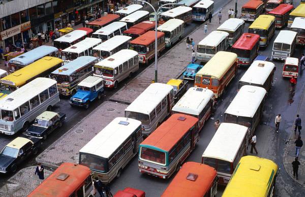 Rush Hour Photograph - Overhead View Of Peak Hour Traffic by Krzysztof Dydynski