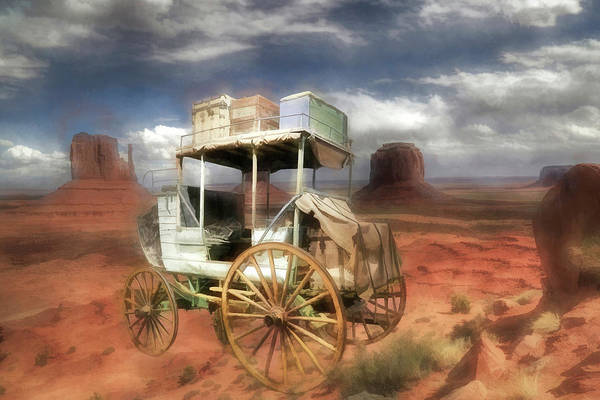 Stagecoach Photograph - Overland Stage At Monument Valley by Donna Kennedy