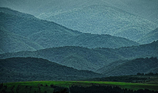Photograph - Overlapping Mountain Layers - Romania by Stuart Litoff