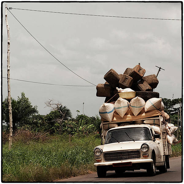 Art Prints Photograph - Overloaded Car by Rodriguez Art Work