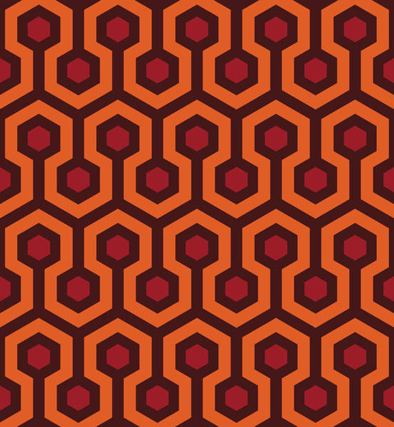Wall Art - Digital Art - Overlook Hotel Carpet by Retro Pops