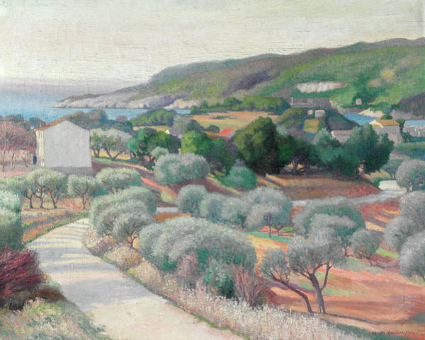 Wall Art - Painting - Overlooking The Mediterranean, 1921 by Alexander Warshawsky
