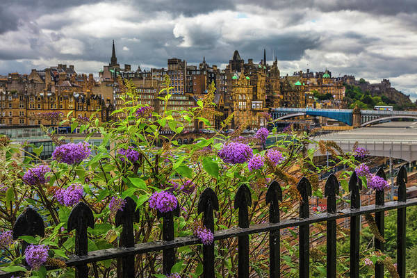 Holyrood Photograph - Overlooking The Train Station In Edinburgh by Debra and Dave Vanderlaan