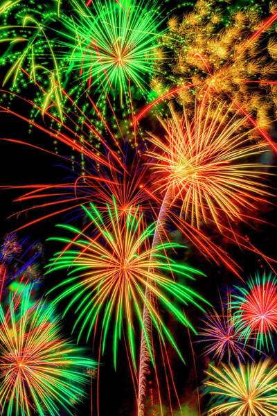 Wall Art - Photograph - Overwhelmed By Fireworks by Garry Gay