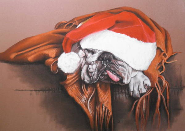 Drawing - Overworked Elf by Barbara Keith