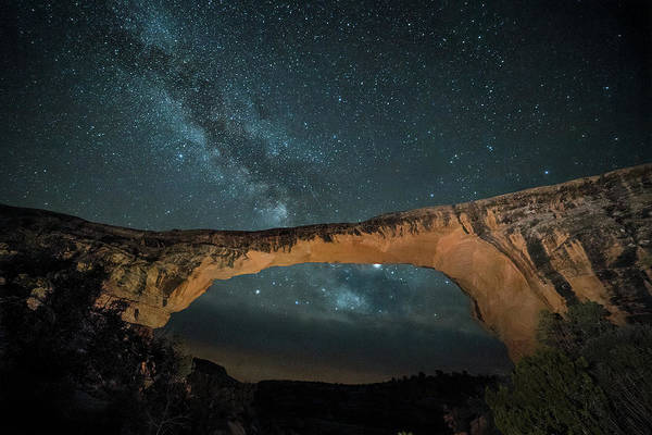 Photograph - Owachomo Natural Bridge And Milky Way by James Capo