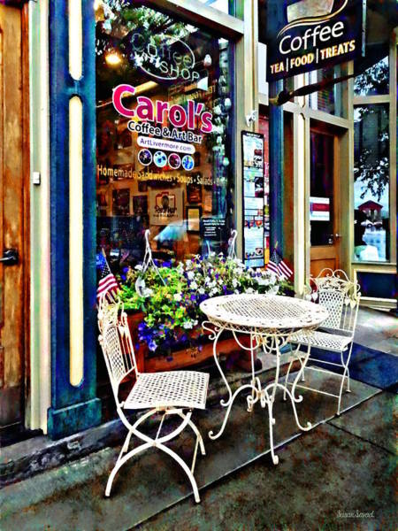 Photograph - Owego Ny - Coffee Shop by Susan Savad