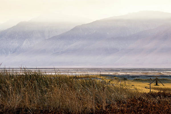 Photograph - Owens Lake California At Sunset by Alex Grichenko