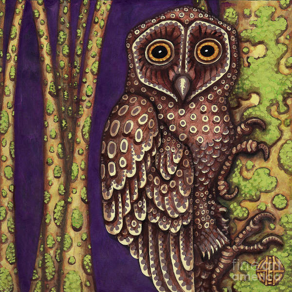 Painting - Owl by Amy E Fraser