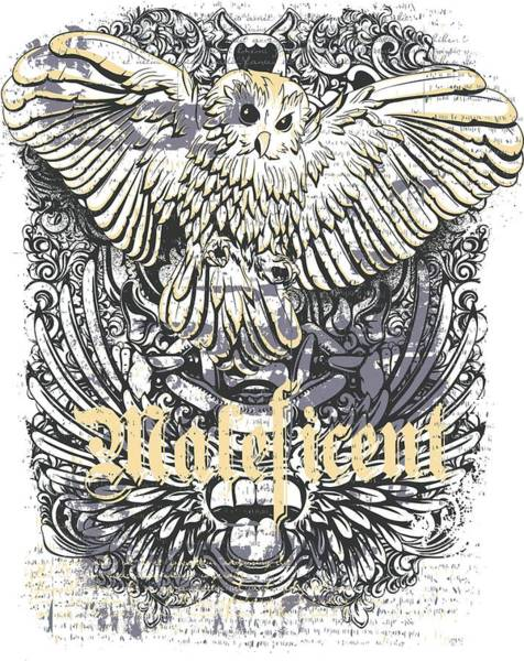 Maleficent Digital Art - Owl And Bali Demon by Passion Loft