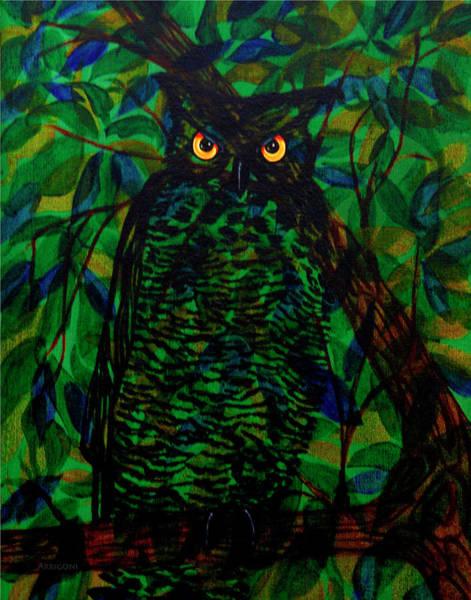 Painting - Owl by David Arrigoni