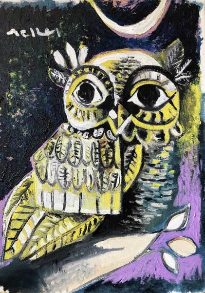 Wall Art - Painting - Owl by Mark M Mellon