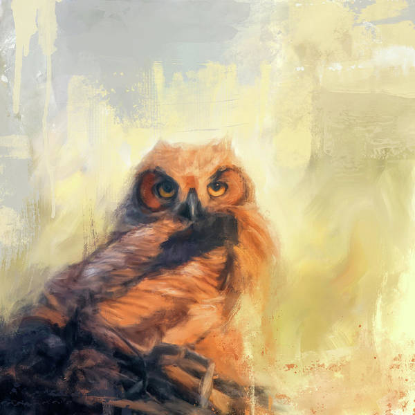 Painting - Owlet By The Beach by Jai Johnson