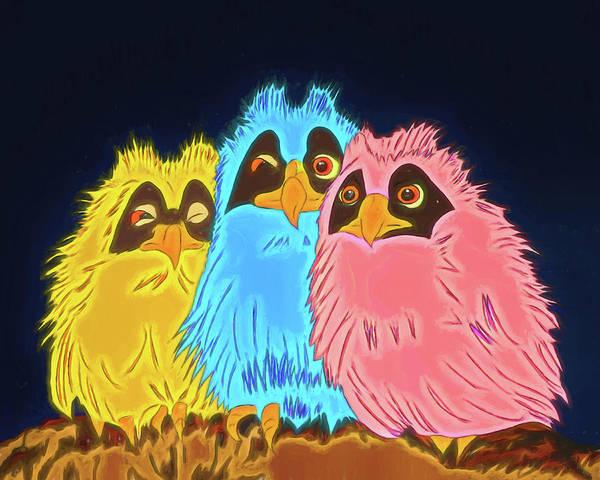 Digital Art - Owlet You Decide by John Haldane