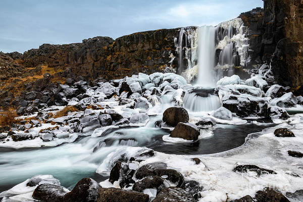 Wall Art - Photograph - Oxarafoss Winter by Jamie Pham