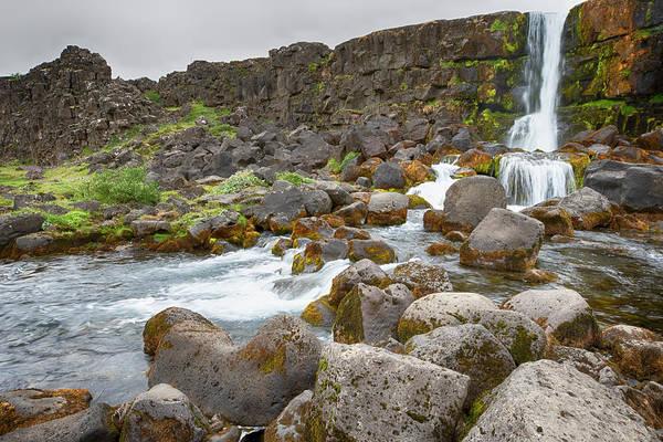 Photograph - Oxararfoss Falls Iceland 6271901 by Rick Veldman