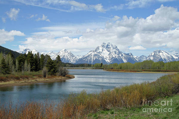 Teton National Park Digital Art - Oxbow Bend In Grand Teton National Park by Charles Montgomery