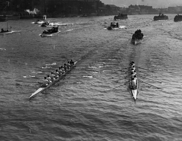 Competitive Sport Photograph - Oxbridge Race by Hulton Collection