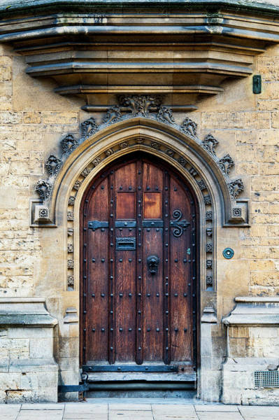 Wall Art - Photograph - Oxford University Wooden Door by Tim Gainey