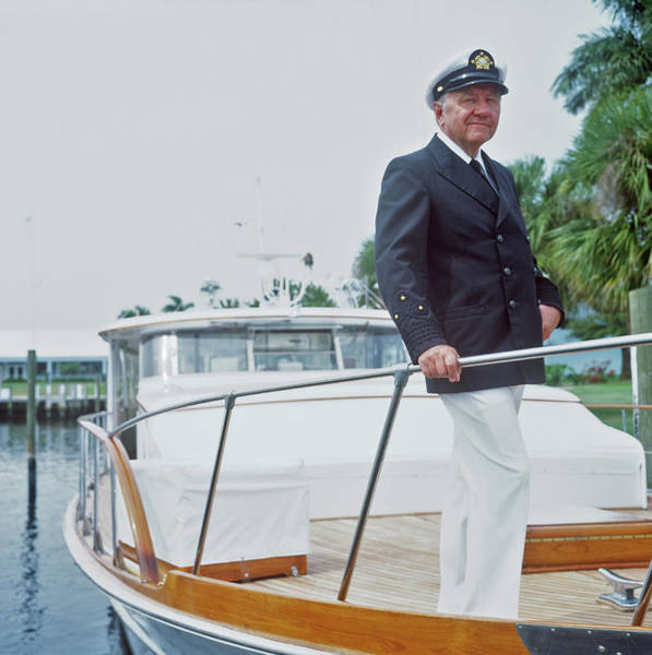 Wall Art - Photograph - Oxley On Boat by Slim Aarons